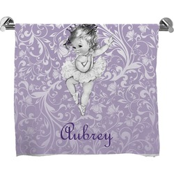 Ballerina Full Print Bath Towel (Personalized)