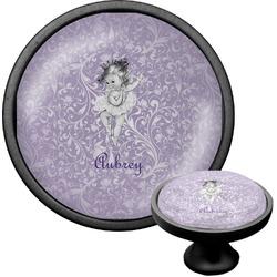Ballerina Cabinet Knob (Black) (Personalized)