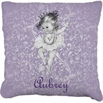 Ballerina Faux-Linen Throw Pillow (Personalized)
