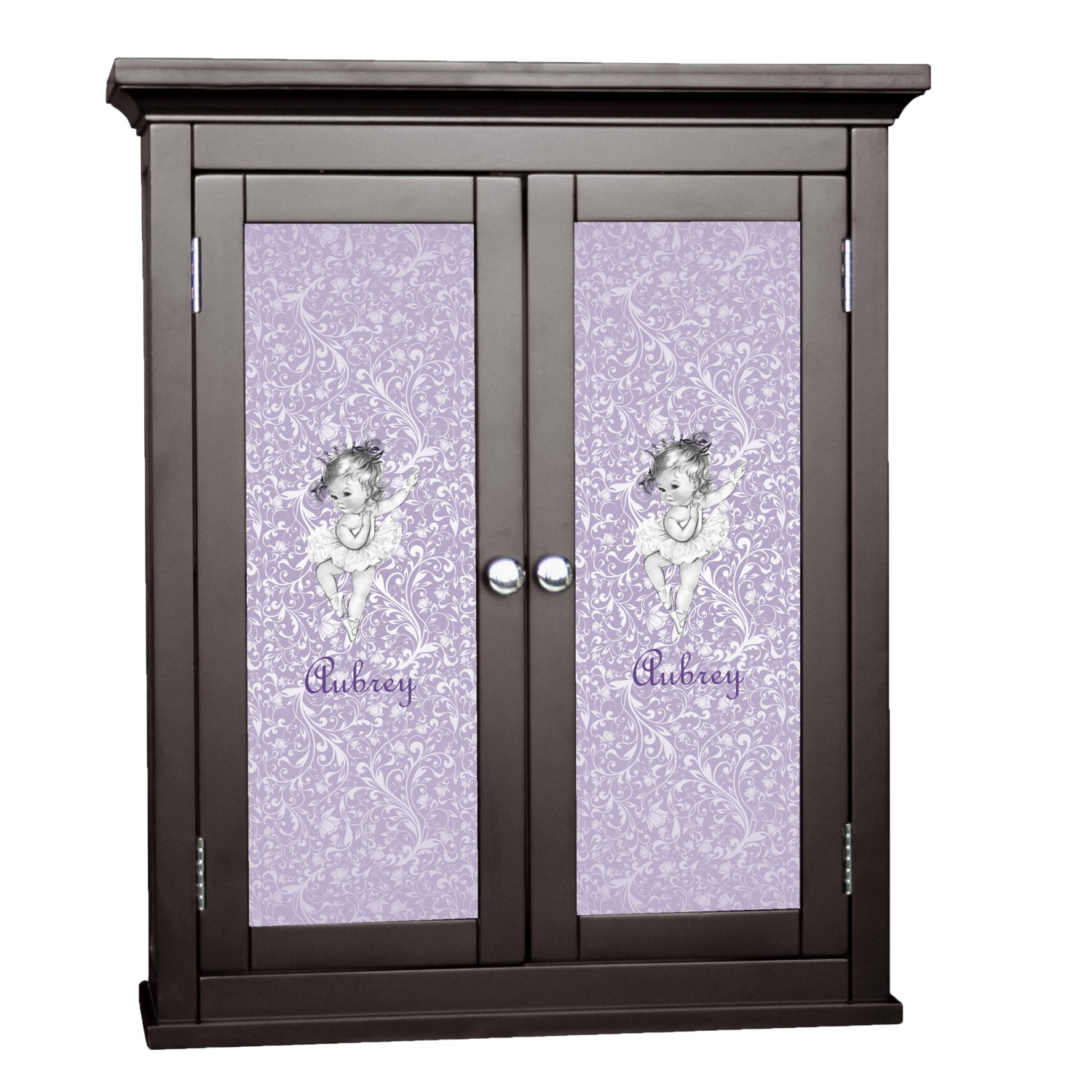 Ballerina cabinet decal large personalized for Kitchen cabinets lowes with free custom stickers