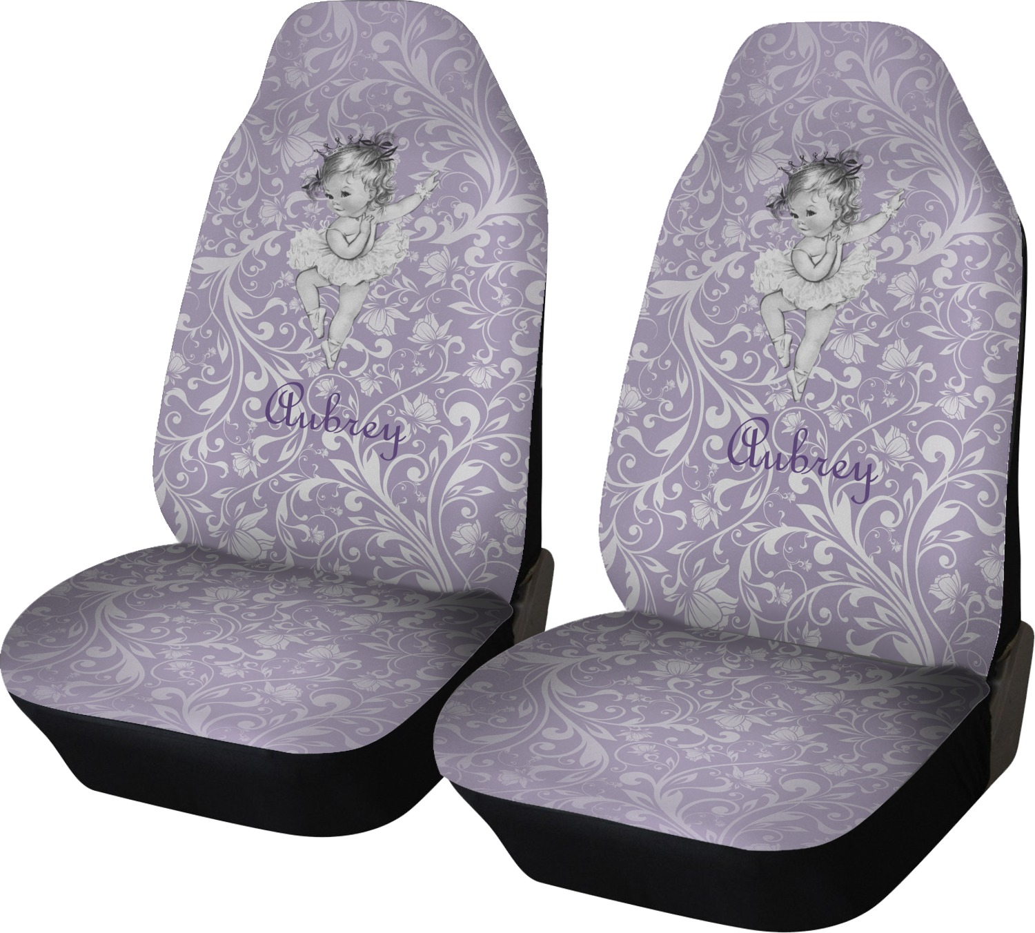 Ballerina Car Seat Covers Set Of Two Personalized