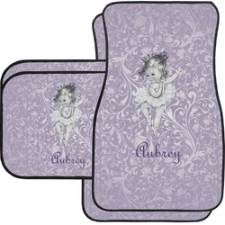 Ballerina Car Floor Mats Set - 2 Front & 2 Back (Personalized)
