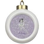 Ballerina Ceramic Ball Ornament (Personalized)