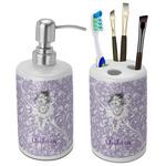 Ballerina Bathroom Accessories Set (Ceramic) (Personalized)