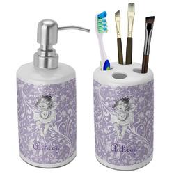 Ballerina Ceramic Bathroom Accessories Set (Personalized)
