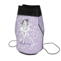 Ballerina Neoprene Drawstring Backpack (Personalized)