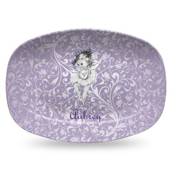 Ballerina Plastic Platter - Microwave & Oven Safe Composite Polymer (Personalized)