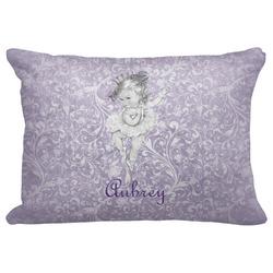 "Ballerina Decorative Baby Pillowcase - 16""x12"" w/ Name or Text"