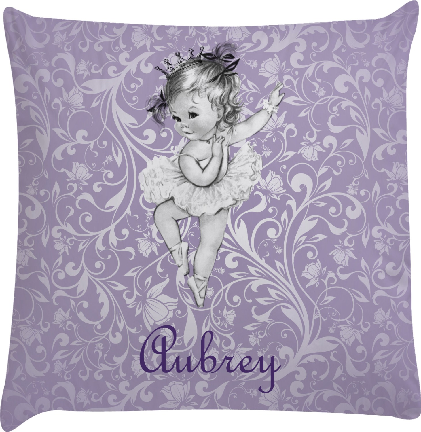 Ballerina Decorative Pillow Case (Personalized) - YouCustomizeIt