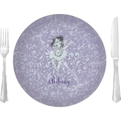 """Ballerina Glass Lunch / Dinner Plates 10"""" - Single or Set (Personalized)"""