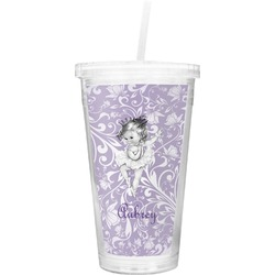 Ballerina Double Wall Tumbler with Straw (Personalized)