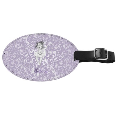 Ballerina Genuine Leather Oval Luggage Tag (Personalized)