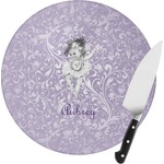 Ballerina Round Glass Cutting Board (Personalized)