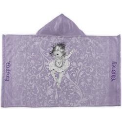 Ballerina Kids Hooded Towel (Personalized)