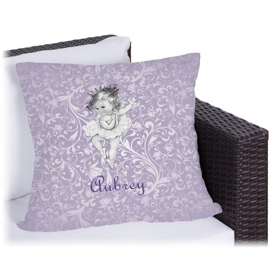 Ballerina Outdoor Pillow (Personalized)
