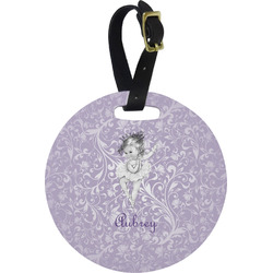 Ballerina Round Luggage Tag (Personalized)