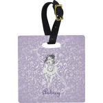 Ballerina Square Luggage Tag (Personalized)