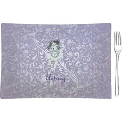 Ballerina Rectangular Glass Appetizer / Dessert Plate - Single or Set (Personalized)