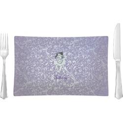 Ballerina Rectangular Glass Lunch / Dinner Plate - Single or Set (Personalized)