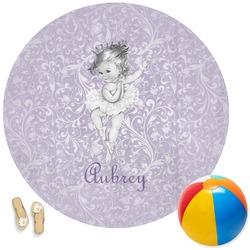 Ballerina Round Beach Towel (Personalized)