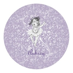 Ballerina Round Decal - Custom Size (Personalized)