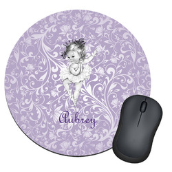 Ballerina Round Mouse Pad (Personalized)