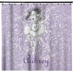 Ballerina Shower Curtain (Personalized)