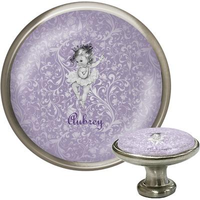 Ballerina Cabinet Knob (Silver) (Personalized)