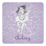 Ballerina Square Decal (Personalized)