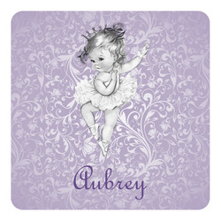 Ballerina Square Decal - Custom Size (Personalized)