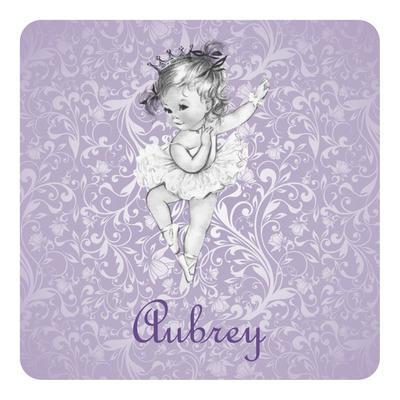 Ballerina Square Decal (Personalized)