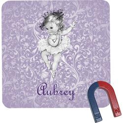 Ballerina Square Fridge Magnet (Personalized)
