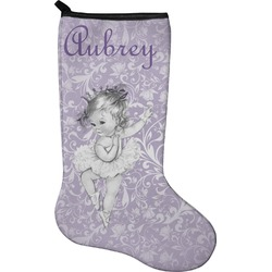 Ballerina Christmas Stocking - Neoprene (Personalized)