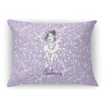 Ballerina Rectangular Throw Pillow Case (Personalized)