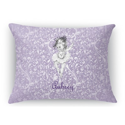 Rectangular Throw Pillow Dimensions : Ballerina Rectangular Throw Pillow - 12