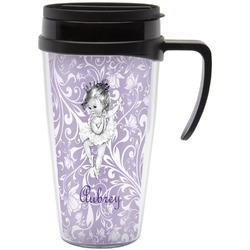 Ballerina Travel Mug with Handle (Personalized)