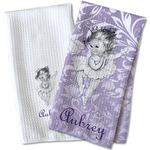 Ballerina Waffle Weave Kitchen Towel (Personalized)