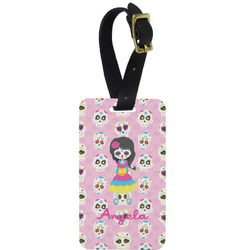 Kids Sugar Skulls Aluminum Luggage Tag (Personalized)