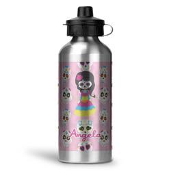 Kids Sugar Skulls Water Bottle - Aluminum - 20 oz (Personalized)