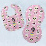 Kids Sugar Skulls Baby Bib & Burp Set w/ Name or Text