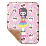 "Kids Sugar Skulls Sherpa Baby Blanket 30"" x 40"" (Personalized)"