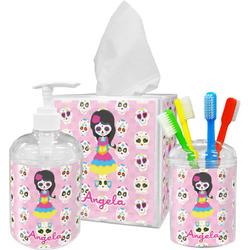 Kids Sugar Skulls Bathroom Accessories Set (Personalized)