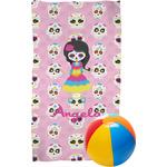 Kids Sugar Skulls Beach Towel (Personalized)