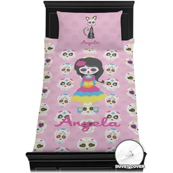 Kids Sugar Skulls Duvet Cover Set - Toddler (Personalized)