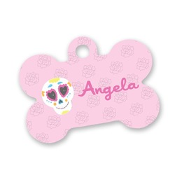 Kids Sugar Skulls Bone Shaped Dog Tag (Personalized)