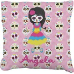 Kids Sugar Skulls Faux-Linen Throw Pillow (Personalized)