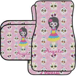 Kids Sugar Skulls Car Floor Mats (Personalized)