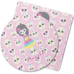 Kids Sugar Skulls Rubber Backed Coaster (Personalized)