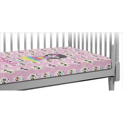 Kids Sugar Skulls Crib Fitted Sheet (Personalized)