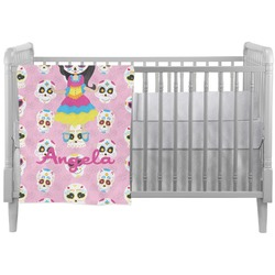 Kids Sugar Skulls Crib Comforter / Quilt (Personalized)